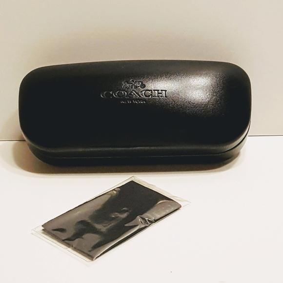 8c45e639daaf Coach Accessories - AUTHENTIC COACH BLACK HARD EYEGLASSES CASE w/cloth